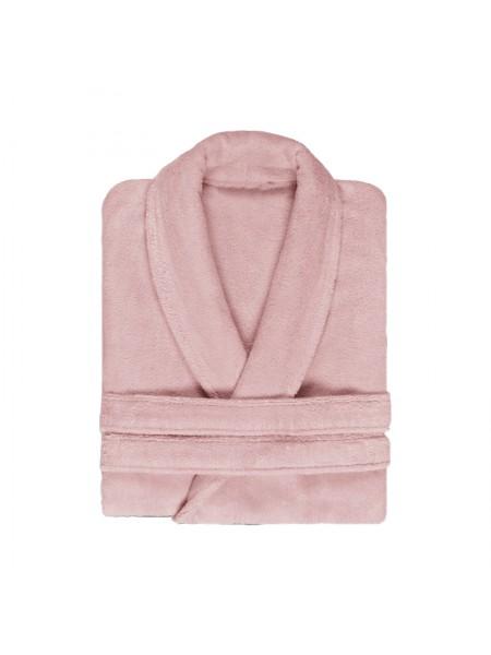 Халат махровый женский(розовый)