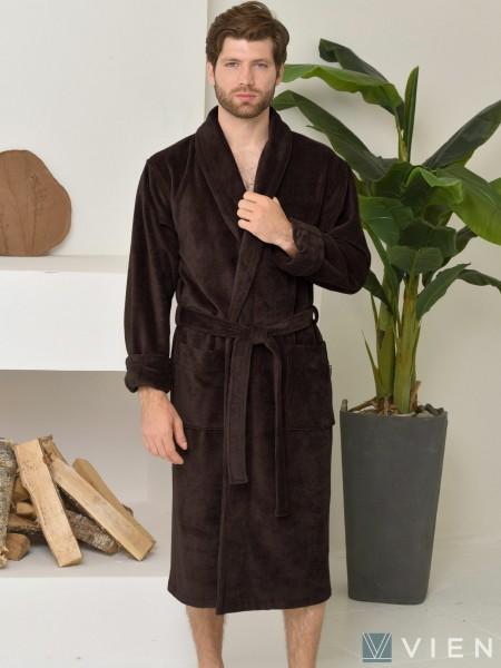 Халат мужской бамбуковый махровый Lord (шоколад)