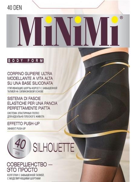 Колготки женские 40/140 Den SILHOUETTE(высокая утяжка шорты) MiNiMi