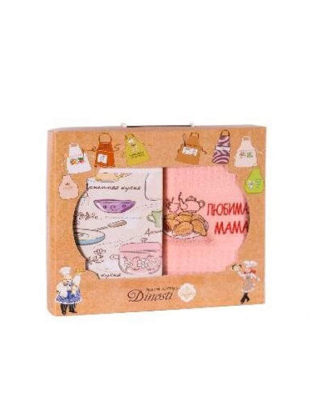 "Комплект кух. 2пр.""Dinosti"" (фартук+полотенце) ""Любимая мама"""