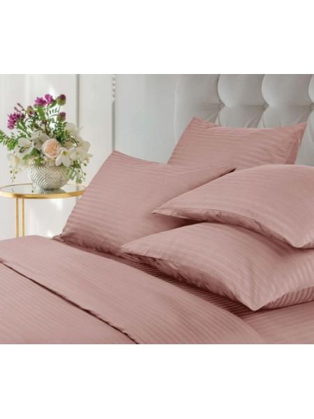 Комплект наволочек 50*70-2шт страйп-сатин (розовый)