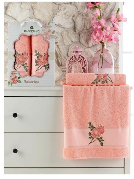 Комплект полотенец Ballerina 2 шт.(50*90 см., 70*140 см.)(оранжевый) 100% хлопок, 380 гр/м2, в коробке