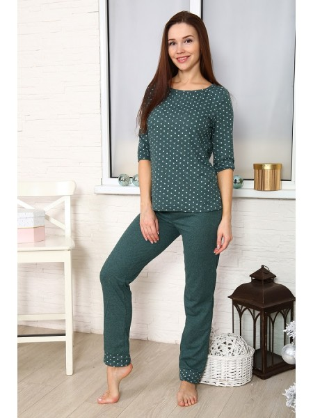 """Комплект с брюками """"Ягода"""" зеленый"""