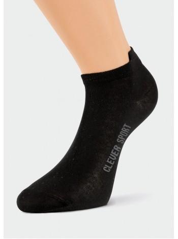 Носки жен. Клевер спорт укороч. (черные)