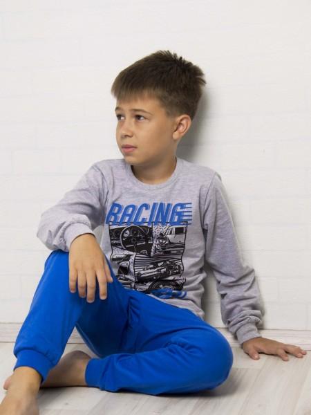 Пижама детская для мальчика 92123, рост 134 цвет т. синий