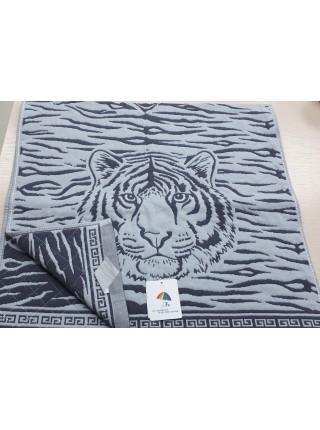 Полотенце 35*75 тканое Тигры 2204173 цвет в ассорт.