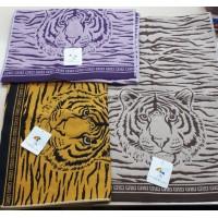 Полотенце 50*90 тканое Тигры 2205173 цвет в ассорт.