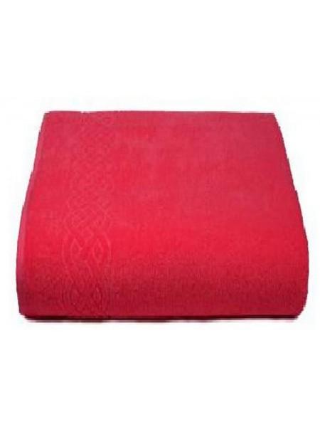 Простыня махровая 200*220/нл+5501-01933 цв. красный