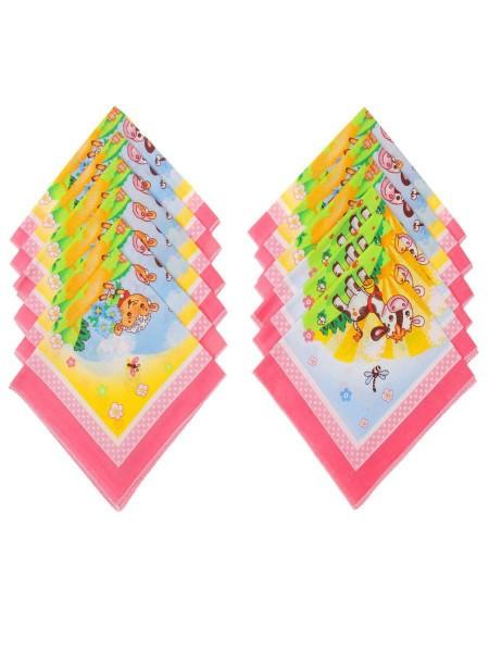 Платок носовой детский 30*30 (100%хлопок) поплин цв. в ассорт.