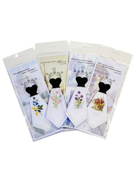 Платок носовой подарочный женский 30*30 (100%хл.)  цв.в ассортименте