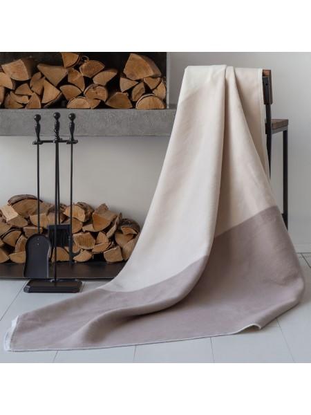 Одеяло байковое 150*212 (100% хлопок) ПРЕМИУМ Гамма беж