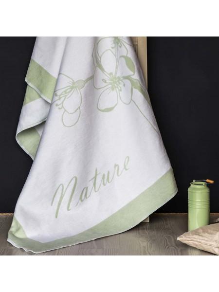 Одеяло байковое 150*212 (100% хлопок) ПРЕМИУМ (зеленое)