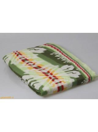 Одеяло байковое 1,5сп.(140*205) жаккард  (цвета в ассорт.)