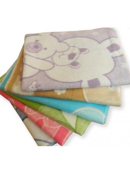 Одеяло байковое детское 110*140 (100% хлопок)