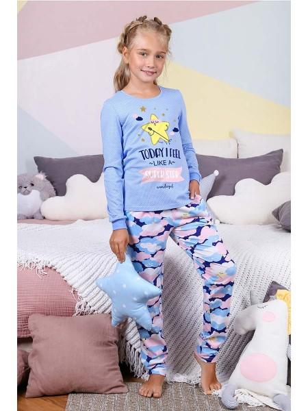 Пижама детская для девочки Облака-3