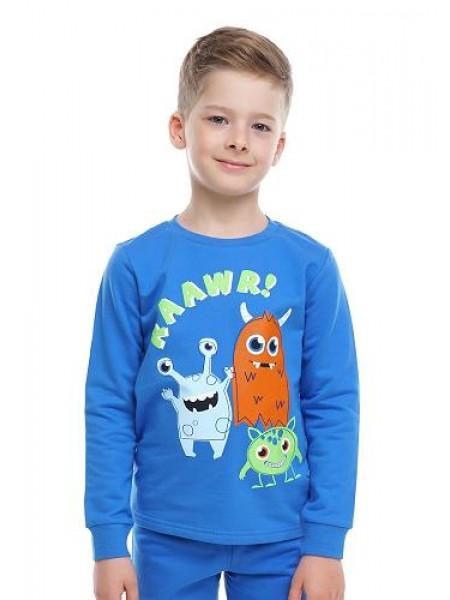 Пижама детская для мальчика (футер) Клевер