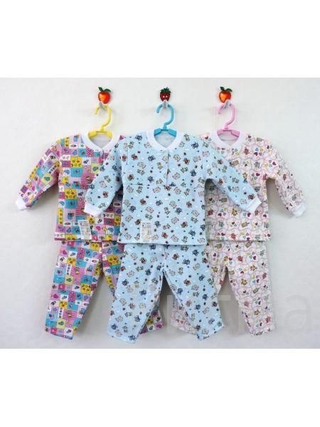 Пижама детская теплая на манжетах