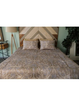 Подушка из шерсти двухсторонняя Люкс-сатин (овечья шерсть) 50х70