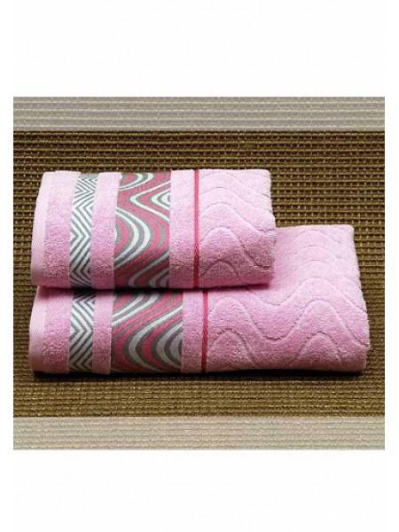 Полотенце махр.70*130 (розовое)