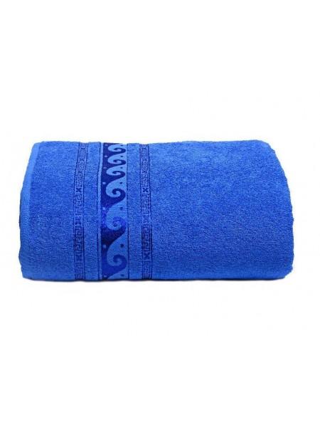 Простыня махровая 150*200/нц-2201-116 (синий)