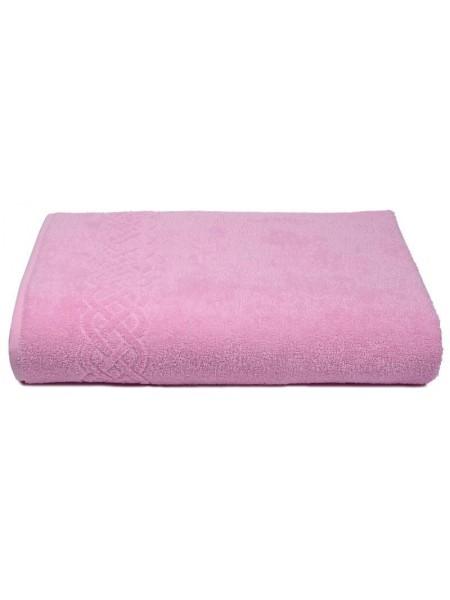 Простыня махровая 200*220/нл+5501-01933 цв. розовый