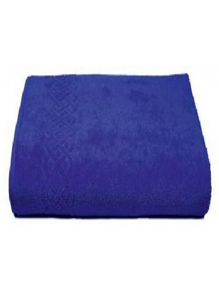 Простыня махровая 200*220/нл+5501-01933 цв.синий