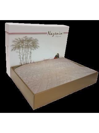 Простыня махровая бамбуковая жаккардовая 160*230 Nazenin