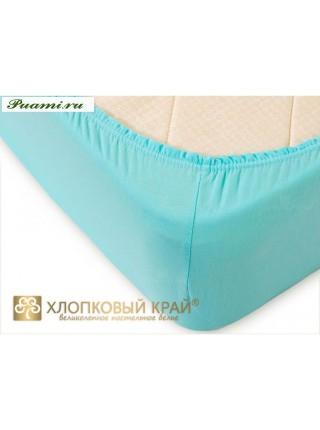 Простыня на резинке трикотажная 180*200*20 цвета в ассрт.