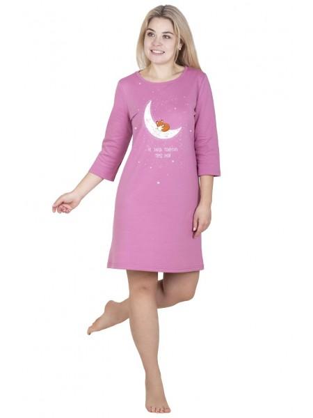 Сорочка с длинным рукавом Алена(С-165а)(теплая) р-р 42-56