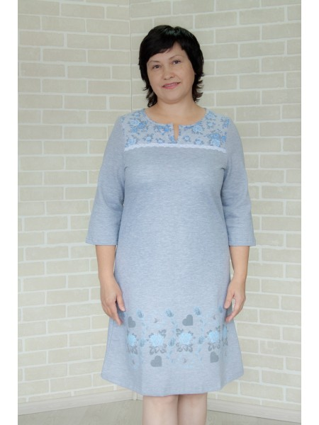 Сорочка с длинным рукавом Дарина (НС 9-17)(теплая) р-р 44-58