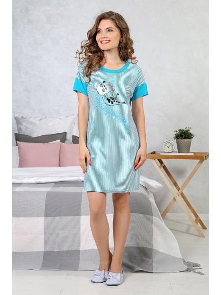 Сорочка с коротким рукавом Душечка-1