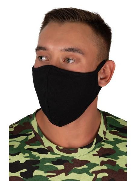 К-т защитных масок многоразовых муж. 5 шт. размер 50-56 (цв. в ассорт.)