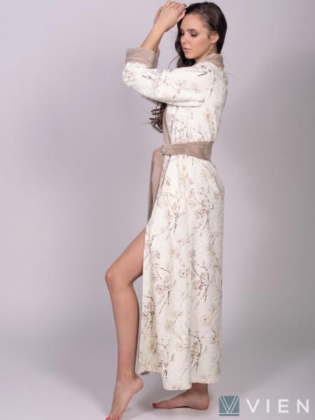Халат бамбуковый жен махровый Monica (латте)