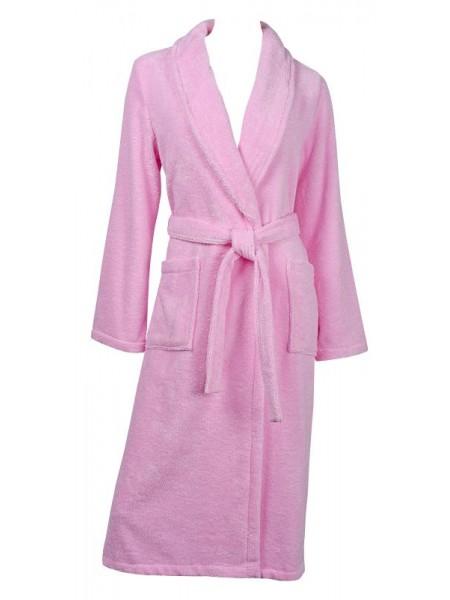 Халат жен махровый гладкокрашеный Sveltezza  (розовый)
